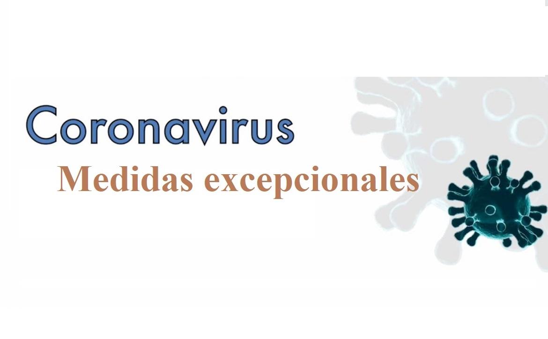 Coronavirus medidas excepcionales